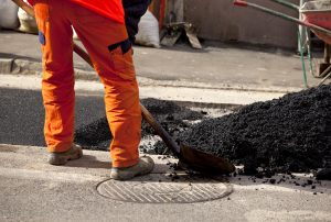This is a picture of an asphalt paving.